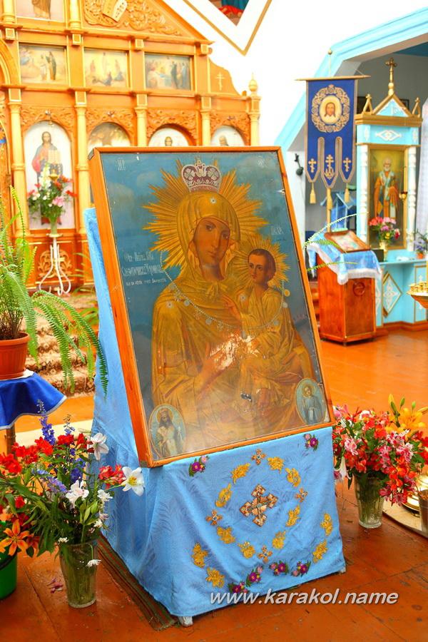 Тихвинская икона Божией Матери в Свято-Троицкой православной церкви города Каракол